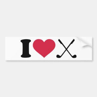 I love Golf clubs Bumper Stickers