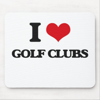 I love Golf Clubs Mouse Pads