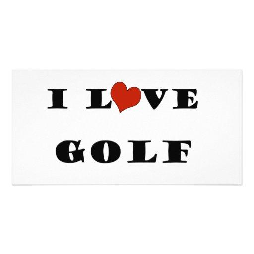 I Love Golf Customized Photo Card
