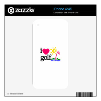 I LOVE GOlF Decals For The iPhone 4S