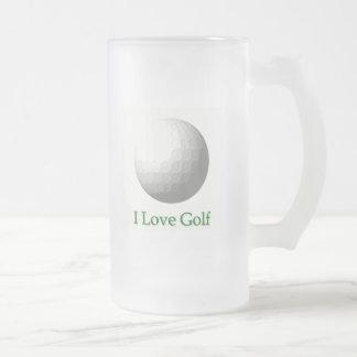 I Love Golf Design Beer Mug
