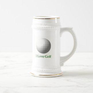 I Love Golf Design Beer Stein