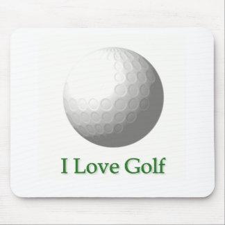 I Love Golf Design Mouse Pad