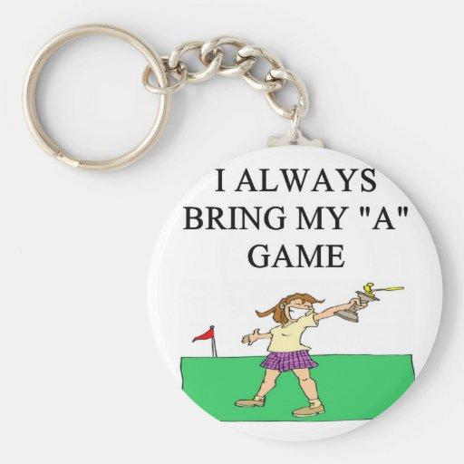 i love golf golfer basic round button keychain