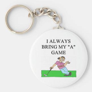 i love golf golfer key chain