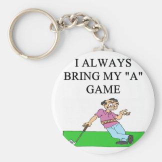 i love golf golfer keychain