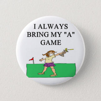 i love golf golfer pinback button