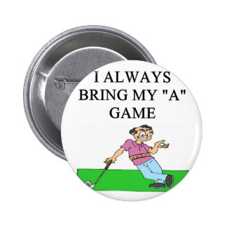 i love golf golfer pinback button