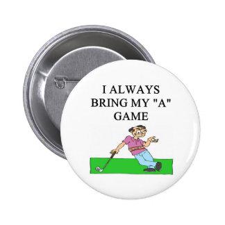 i love golf golfer pinback buttons