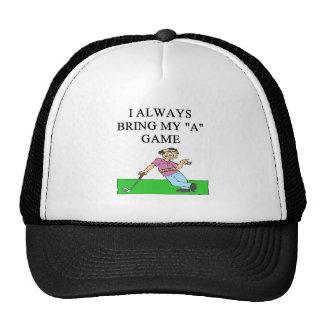 i love golf golfer trucker hats