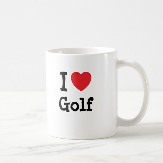 I love Golf heart custom personalized Coffee Mug