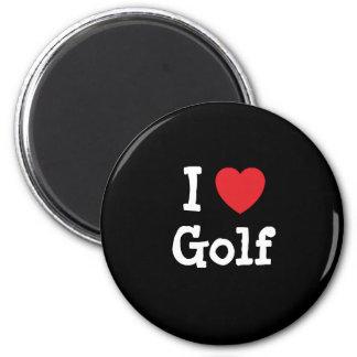 I love Golf heart custom personalized Fridge Magnet