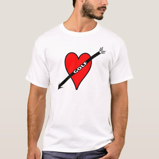 I Love Golf Heart T-Shirt
