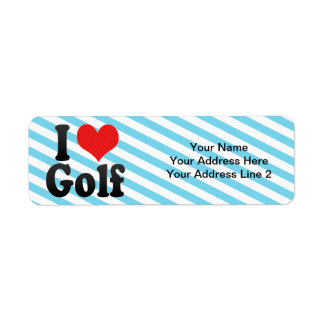I Love Golf Label
