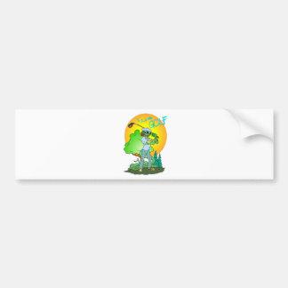 I Love GOLF Lizard Bumper Stickers