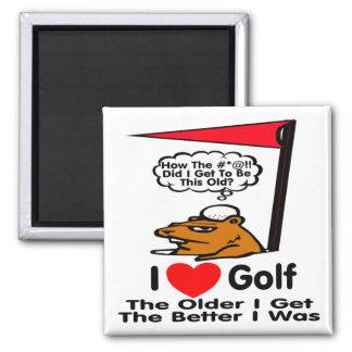 I Love Golf Magnet
