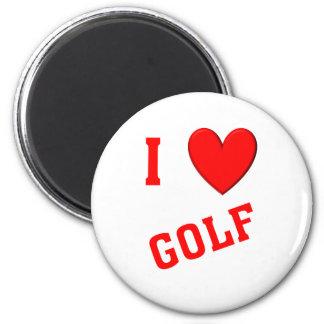 I Love Golf Fridge Magnets