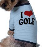 I Love Golf Pet Clothing