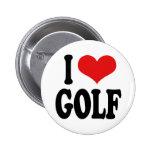 I Love Golf Pin