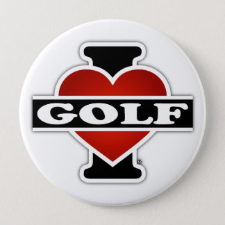 I Love Golf Pinback Button