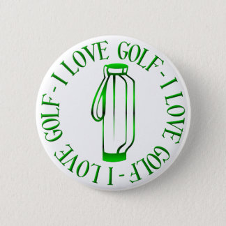 I love golf! pinback button