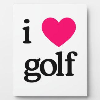 I Love Golf Plaque