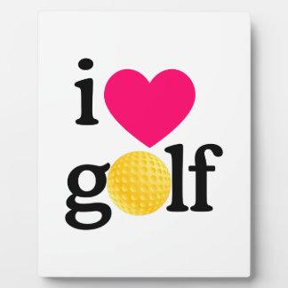 I love golf display plaque