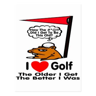 I Love Golf Postcard