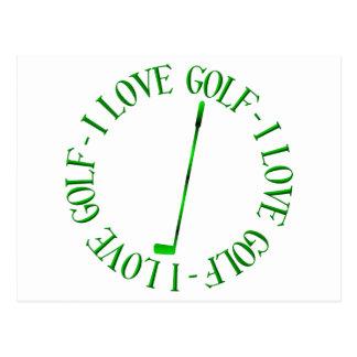 I love golf! postcard
