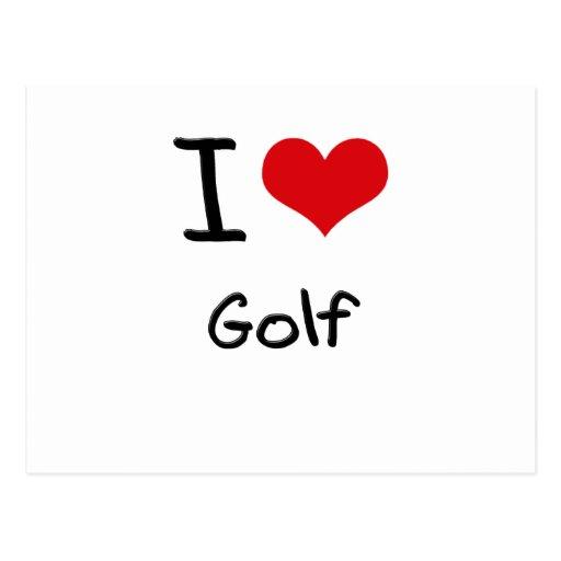 I Love Golf Postcards