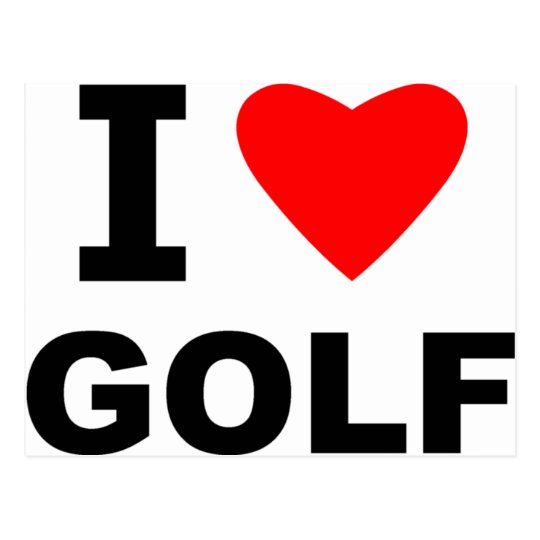 I Love Golf Postcard