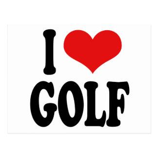 I Love Golf Post Card