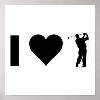 I Love Golf Poster