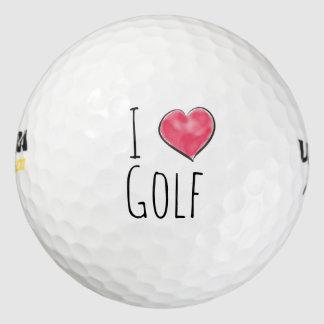 I love golf red heart golf balls