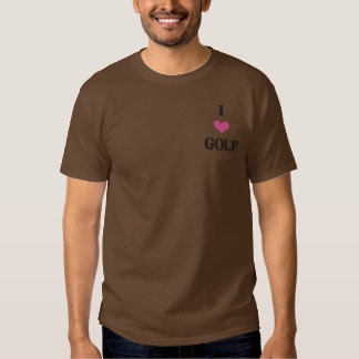 """""""I LOVE GOLF"""" SHIRT - Customized EMBROIDERY"""