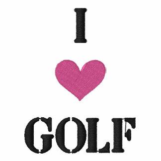 """I LOVE GOLF"" SHIRT - Customized EMBROIDERY Polo Shirt"