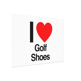 i love golf shoes stretched canvas prints