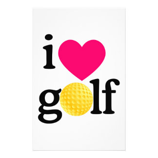 I love golf stationery