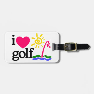 I LOVE GOlF Tag For Bags