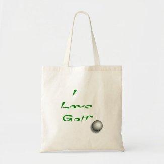 I love Golf Tote Bag