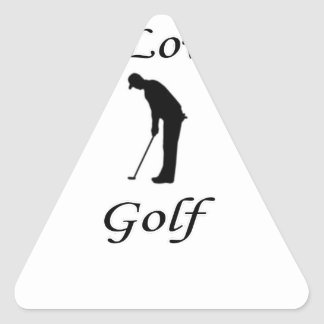 I Love Golf Triangle Sticker
