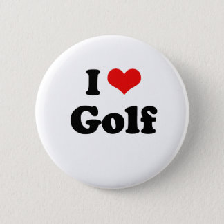 I Love Golf Tshirt Button