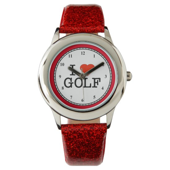 I Love Golf Watch