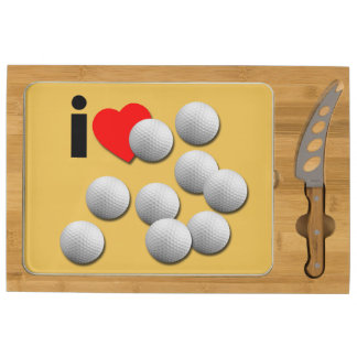I Love Golf... with your colors. Cheese Board