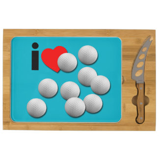 I Love Golf... with your colors. Cheese Platter