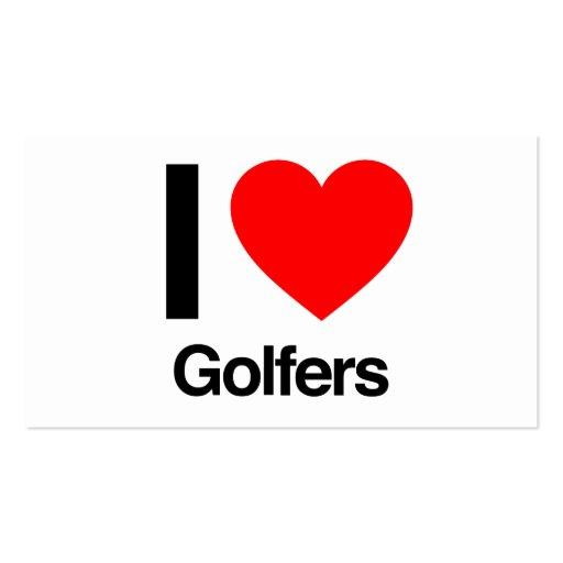 i love golfers business card template
