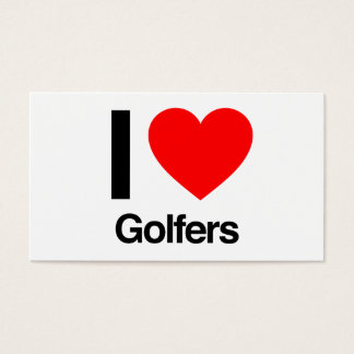 i love golfers business card