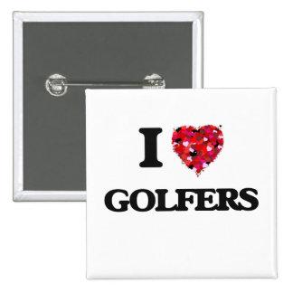 I Love Golfers 2 Inch Square Button
