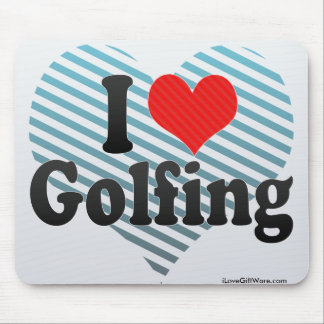 I Love Golfing Mouse Pad