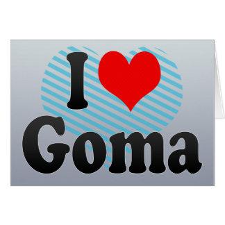 I Love Goma, Congo Greeting Card